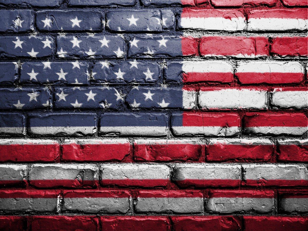 flag, usa, america