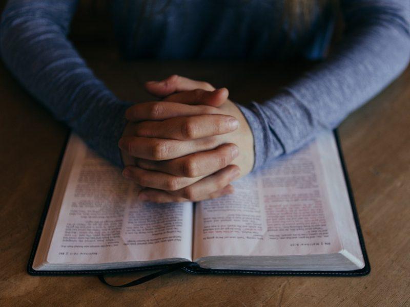 pray, hands, bible