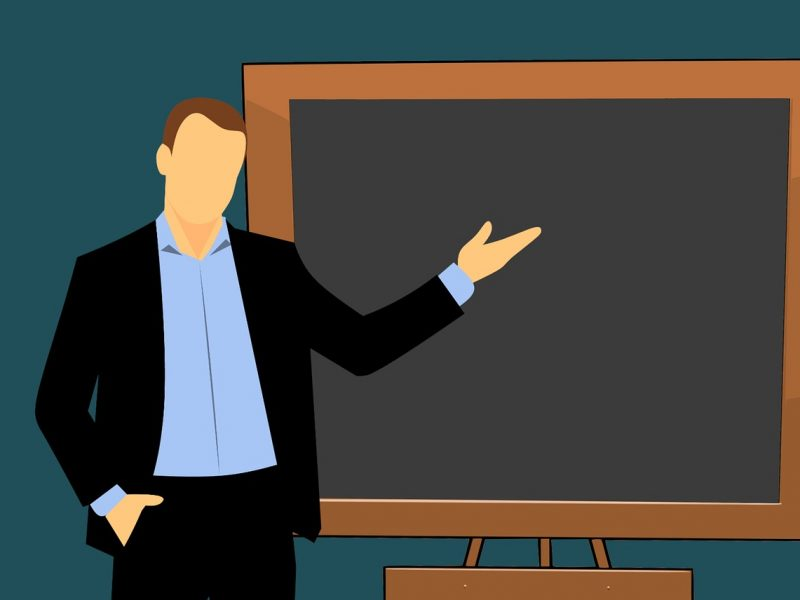 teacher, cartoon, board